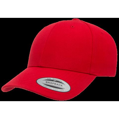 Кепка FlexFit 6789M - Curved Visor Snapback Red