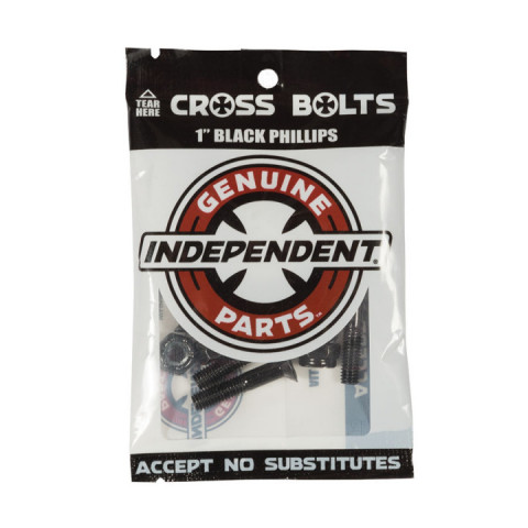 "Винты для скейта Independent Phillips Hardware 1"" Black"